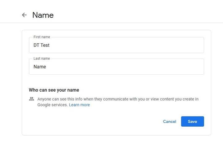 YouTube change name screenshot