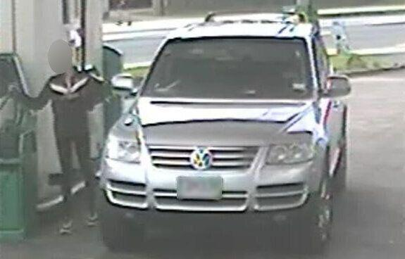One of the Northcote fuel theft suspects seen here in CCTV released by the Auckland BP petrol station owners.