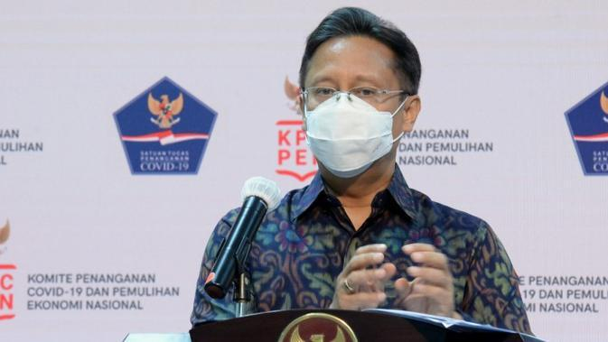 Ketua Satgas PEN Budi Gunadi Sadikin sampaikan anggaran sebesar Rp695 triliun ditargetkan dapat terserap ke dalam 6 program KPC PEN saat jumpa pers di Kantor Presiden, Jakarta, Rabu (2/9/2020). (Tim Komunikasi Komite Penanganan COVID-19)