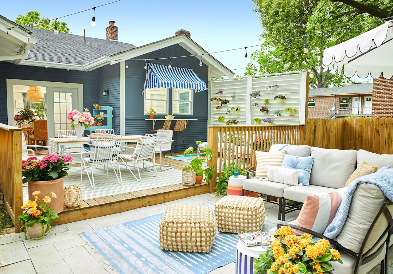 "<p>No matter the size of <a href=""https://www.goodhousekeeping.com/home/gardening/g1809/decor-ideas-deck-porch/"" target=""_blank"">your patio, deck, or backyard</a>, there are easy ways to expand your home's outdoor footprint. And since a total overhaul may not be feasible for you, it's best to work with what you already have to create the perfect outdoor oasis, whether it's for everyday activities, <a href=""https://www.goodhousekeeping.com/holidays/tips/g3620/summer-party/"" target=""_blank"">summer entertaining</a>, or a mix of both. Browse through these small backyard ideas to find simple ways to upgrade your space. There's a variety of landscaping designs, <a href=""https://www.goodhousekeeping.com/home/gardening/advice/g1007/backyard-decorating/"" target=""_blank"">decor inspiration</a>, and gardening fixes that are easy enough to tackle on your own (hello DIYs!) while sticking to your budget, no matter how small. </p><p>With these vertical planters, multi-functional work benches, and bar carts, your <a href=""https://www.goodhousekeeping.com/home/gardening/tips/g1226/small-outdoor-space-decor/"" target=""_blank"">small-but-mighty outdoor space</a> will pack a big punch all summer (well, year) long. And if you do it right, then many of these designs and decorating ideas will actually make your tiny space look — and feel — bigger than it really is, which is the ultimate win-win. </p>"