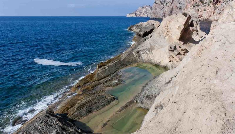 A quarry at Atlantis, Ibiza, near where Miami doctor Daniel Sirovich tragically fell to his death.