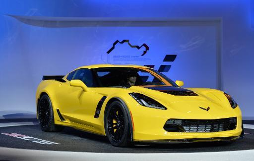 The Chevrolet Corvette Z06 is presented during a press preview at the North American International Auto Show January 13, 2014 in Detroit, Michigan