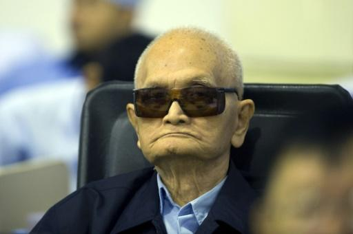 'Brother Number 2' Nuon Chea, 92 -- seen here in 2014 -- was found guilty along with the Khmer Rouge's former head of state