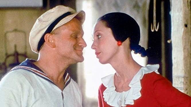Robin Williams and Shelley Duvall from Popeye (1980)