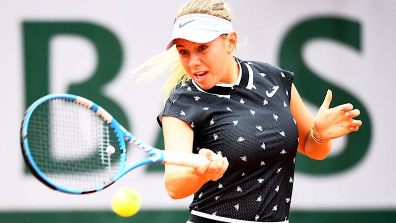 Amanda Anisimova is the first player born in the 2000's to reach a grand slam quarter-final.