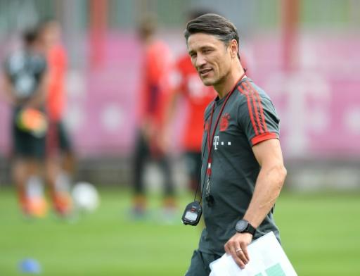 Bayern Munich's new Croatian coach Niko Kovac attends a training session at the club