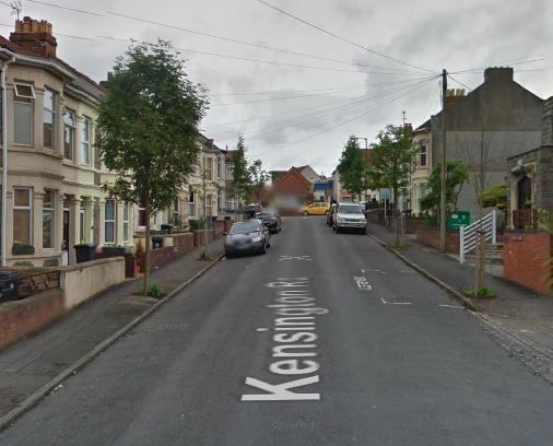 The incident happened close to Kensington Road in Bristol. (GOOGLE)