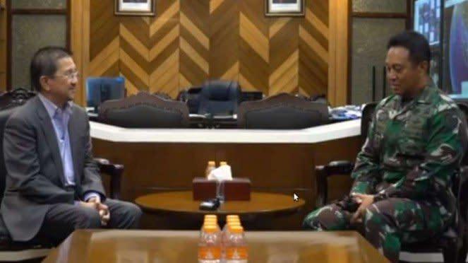 VIVA Militer : Kasad TNI AD Jenderal Andika Perkasa bertemu dengan Dirut PTFI
