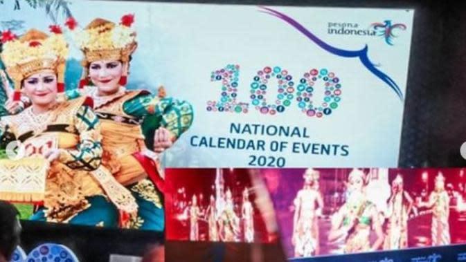 Peluncuran 100 Calendar of Event Wonderful Indonesia 2020, di Jakarta,15 Oktober 2019. (dok.Instagram @kemenpar/https://www.instagram.com/p/B3qmVXqByfW/Henry)