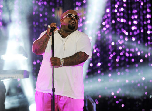 "FILE - This March 1, 2012 file photo shows Cee Lo Green performing at the Caesars Entertainment ""Escape To Total Rewards"" concert in Los Angeles. Singer-rapper CeeLo Green will release ""CeeLo's Magic Moment,"" a Christmas album, on Oct. 30 from Elektra Records. (AP Photo/Chris Pizzello, file)"