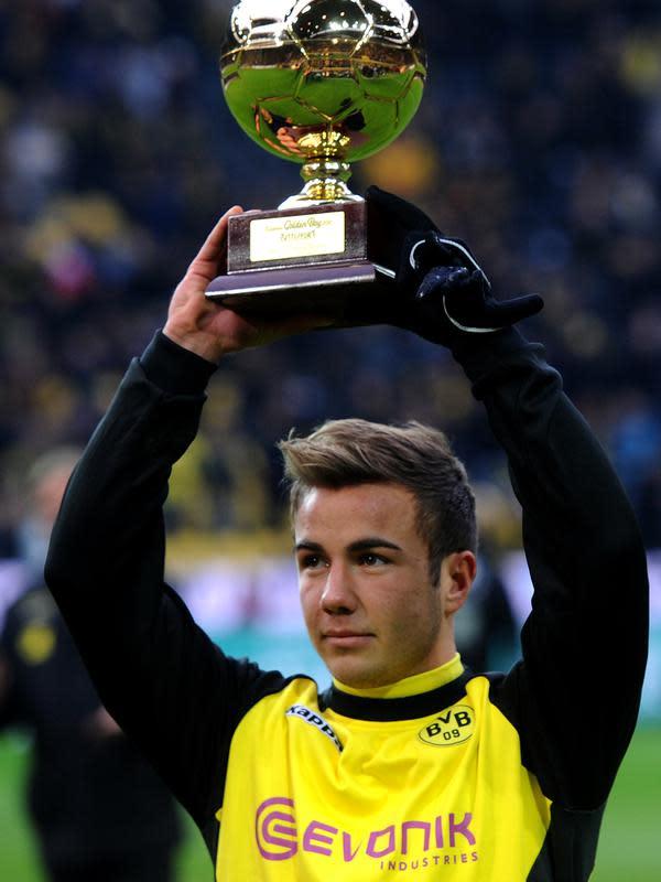 Mario Gotze pun sempat meraih penghargaan Golden Boy pada tahun 2011 berkat bakatnya yang luar biasa. (AFP/Patrik Stollarz)