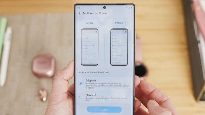 Cara Kerja Adaptive Refresh Rate di Samsung Galaxy Note20 Ultra