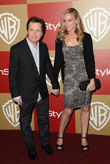 14th Annual Warner Bros. And InStyle Golden Globe Awards After Party - Arrivals: Michael J. Fox and Tracy Pollan