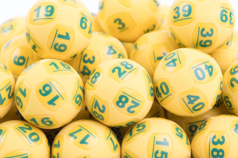 A pile of yellow Oz Lotto balls as the latest draw jackpots $70 million.