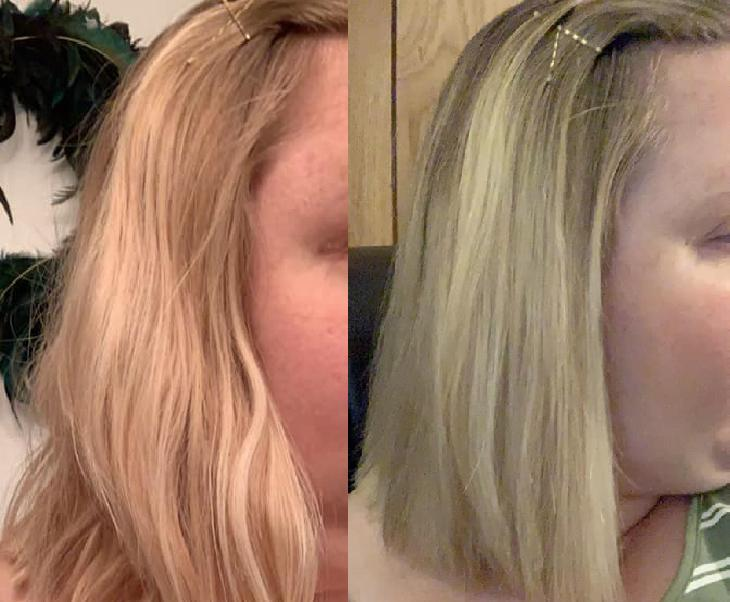 A US woman let the results do the talking with an impressive before and after comparison. Photo: Facebook/ The ALDI Nerd