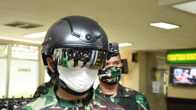 Helm Canggih TNI Cegah Covid-19, Mampu Deteksi Suhu Tubuh Jarak 10 Meter
