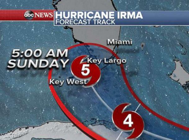 PHOTO: Hurricane Irma forecast tracker. (ABC News)