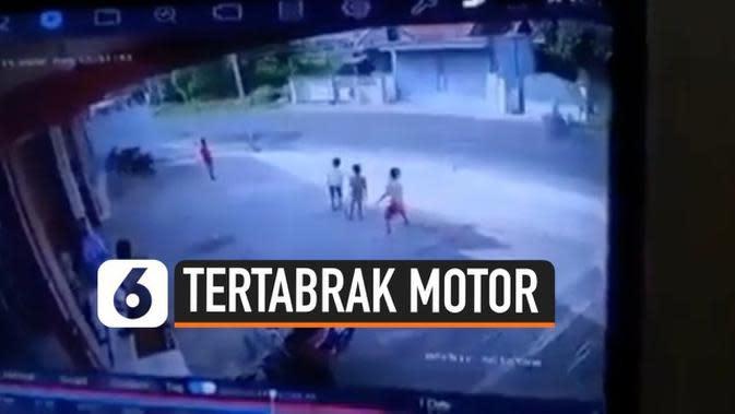 VIDEO: Ngeri, Bocah Tertabrak Motor Hingga Terpental Saat Menyeberang