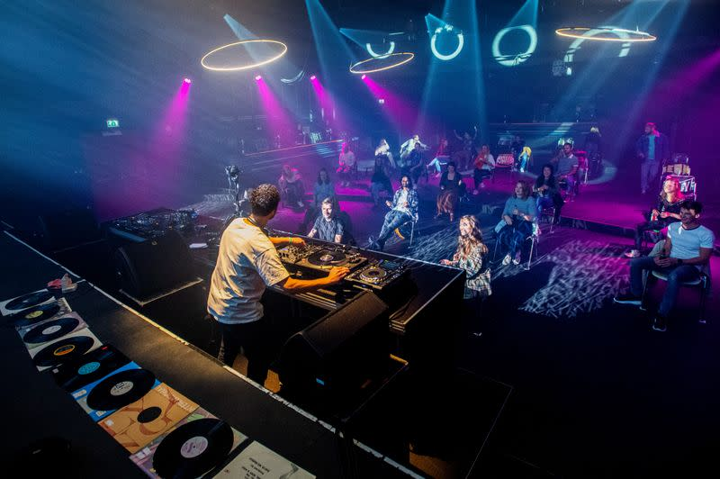 Social dis-dancing? Dutch club tries post-coronavirus layout