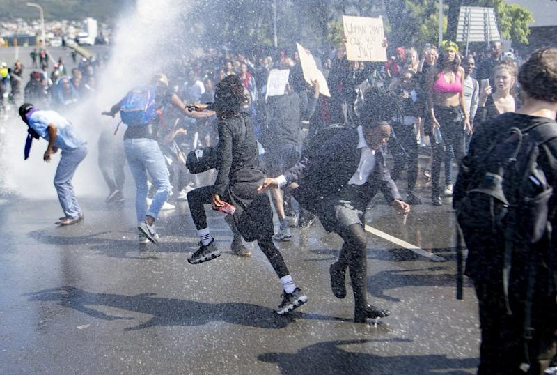 Police reportedly used stun grenades, pepper spray and water cannons on the crowd of protestors. Source: AP.