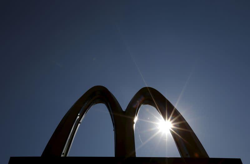A McDonald's restaurant logo in Chicago