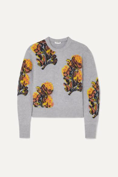 Chloe Jacquard-knit Sweater