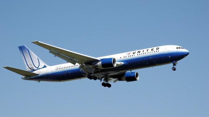 Ilustrasi pesawat United Airlines. (dok. Skeeze/Pixabay/Tri Ayu Lutfiani)