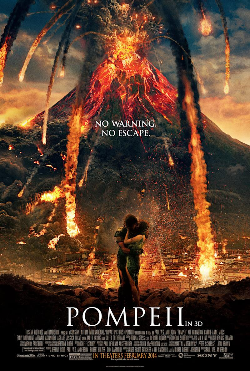 'Pompeii' Poster Promises an Explosive Love Story