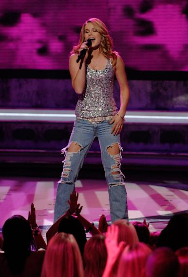 Kristy Lee Cook performs as one of the top 12 on the 7th season of American Idol.