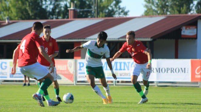 Pertandingan Timnas Indonesia U-19 vs Bulgaria