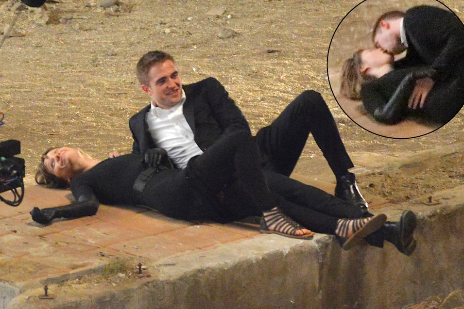 "Robert Pattinson and Mia Wasikowska have a passionate makeout session on ""Maps to the Stars"" set"