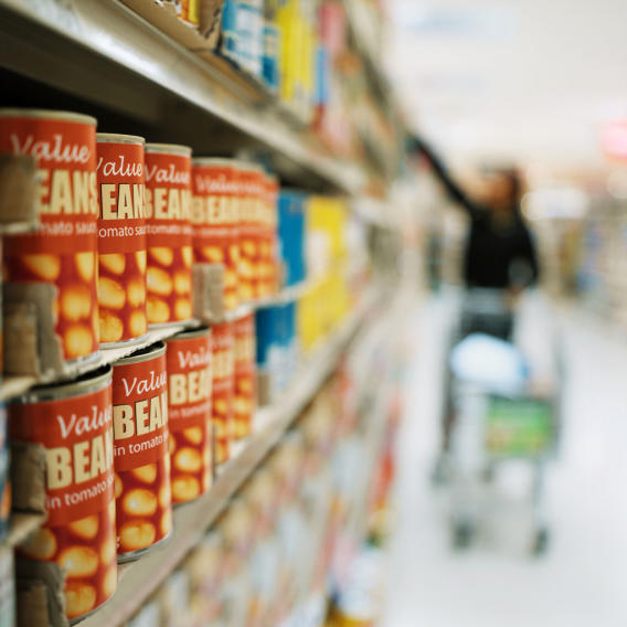 How long can canned goods retain their flavor and nutritional value if kept in a cool, dry place?