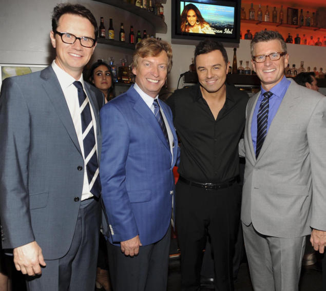 Peter Rice, Nigel Lythgoe, Seth MacFarlane and Kevin Reilly