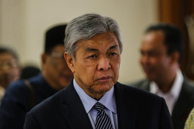 Datuk Seri Ahmad Zahid Hamidi is seen at the Kuala Lumpur High Court December 11, 2019. — Picture by Firdaus Latif