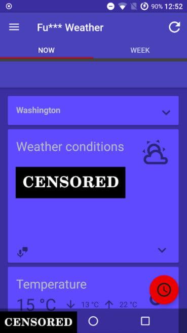 Funny Weather app