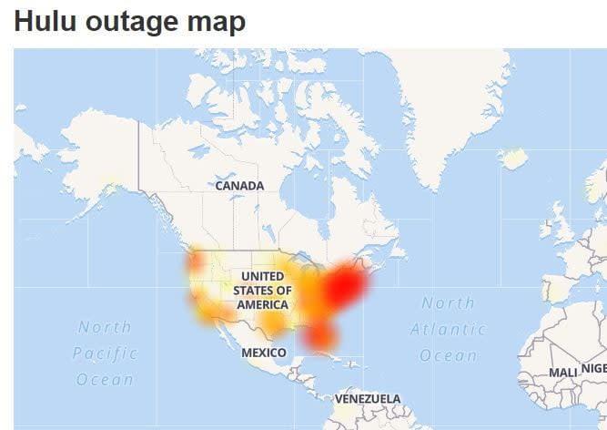 hulu outage map