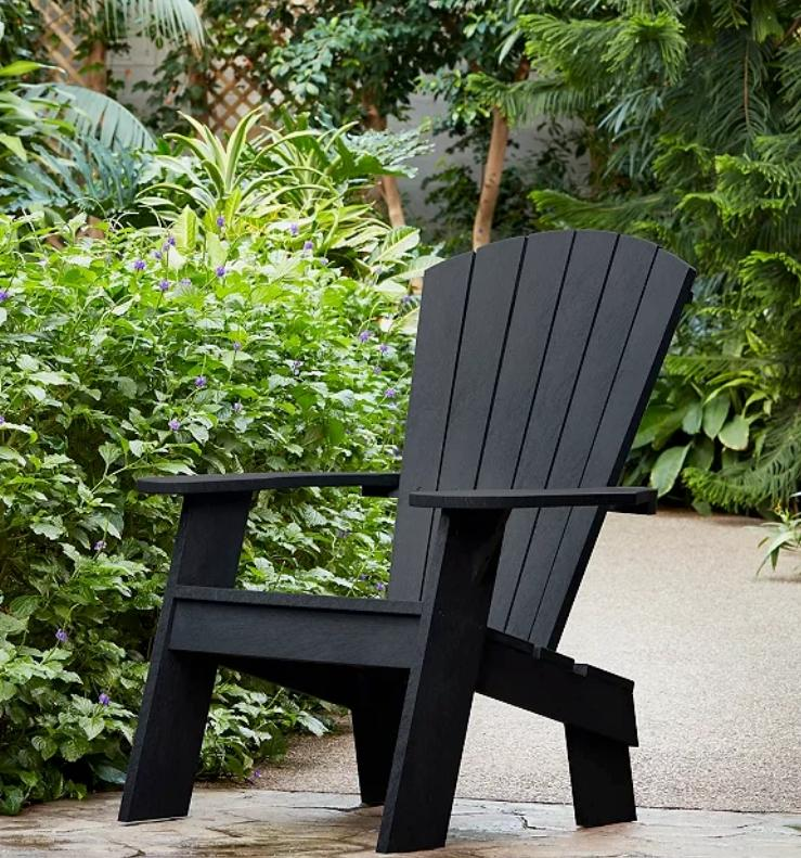 Captiva Casual Adirondack Chair Onyx. (Image via The Home Depot)