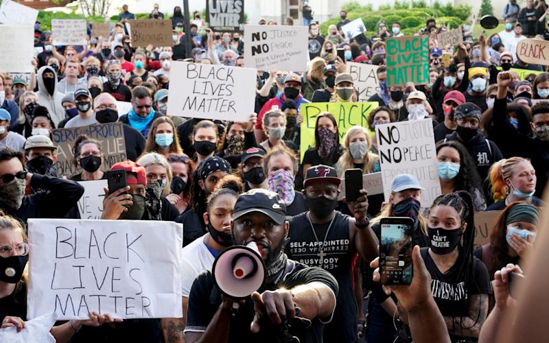 Protests in Louisville following deaths of Breonna Taylor and George Floyd in Louisville, Kentucky - Reuters