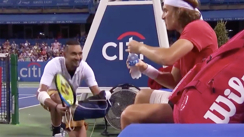 Nick Kyrgios fights off back spasms to win Citi Open title