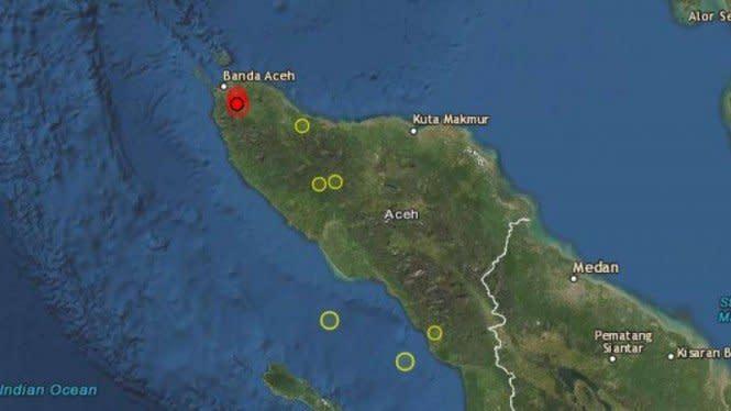 Waspada, Gempa Aceh Ternyata Berpusat di Darat