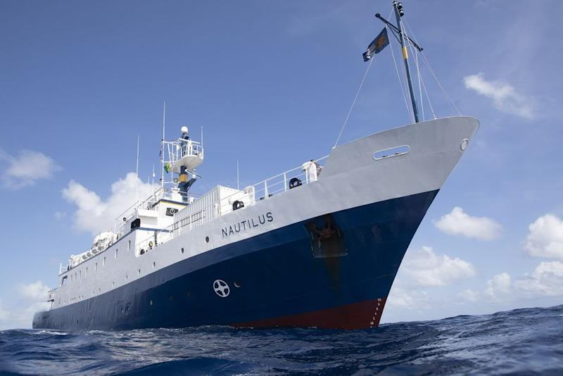 The research vessel E/V Nautilus combed Nikumaroro in the western Pacific Ocean for three weeks.