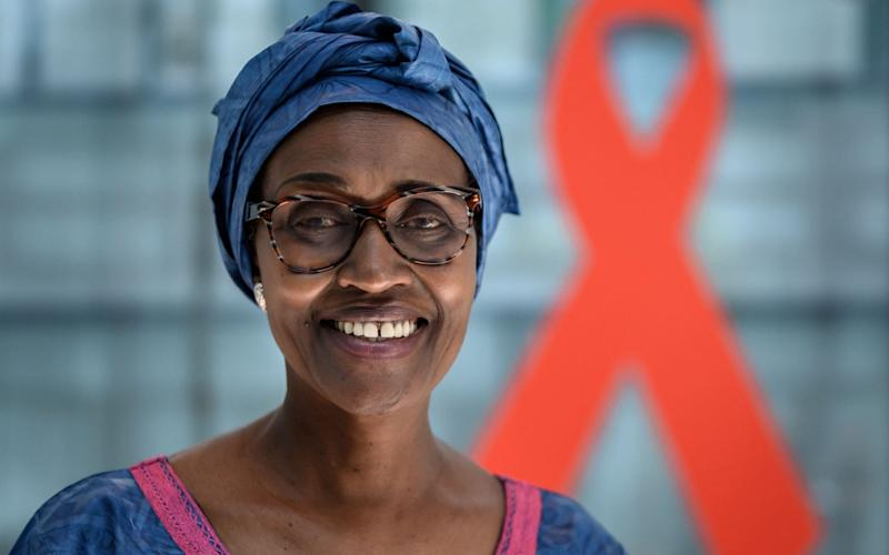UNAIDS Executive Director Winnie Byanyima - FABRICE COFFRINI/AFP