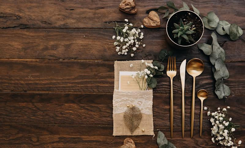 Food and menus at a rustic wedding divided opinion