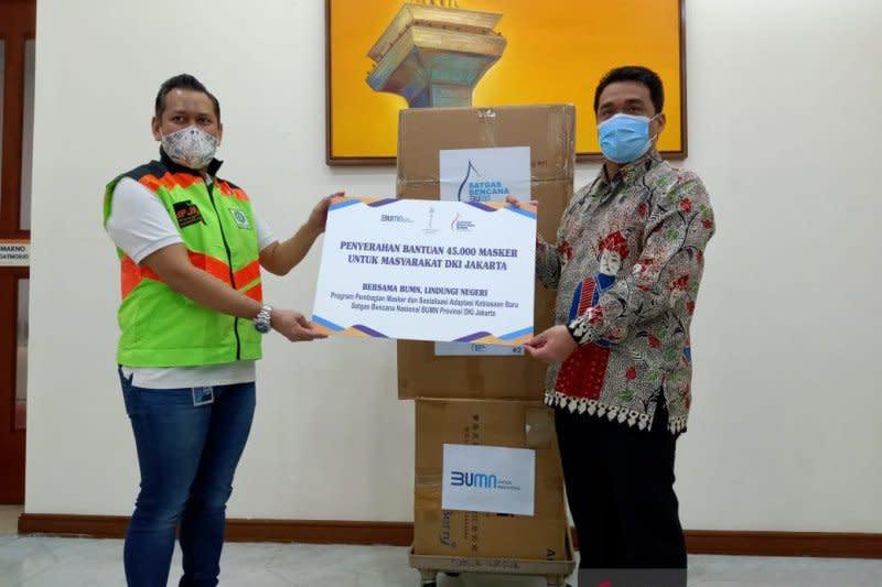 Cegah penyebaran corona, Satgas nasional BUMN bagikan 45.000 masker