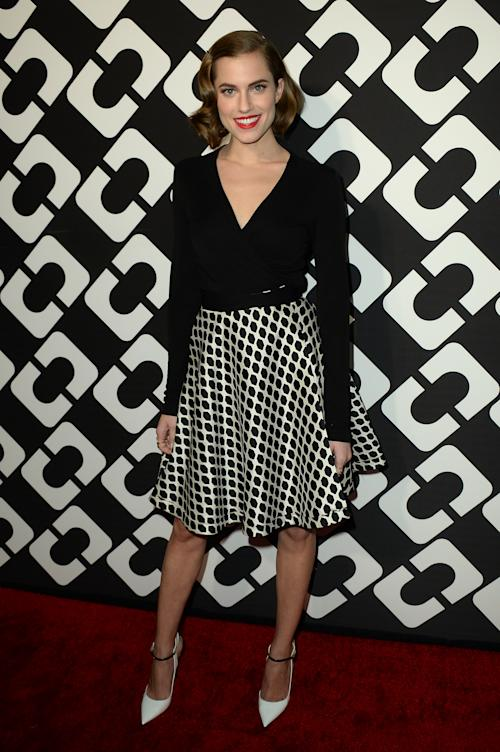 Allison Williams attends the DVF Journey of a Dress 40th Anniversary Party at Wilshire May Company Building on Jan. 10, 2014 in Los Angeles.(Photo by Jordan Strauss/Invision/AP)