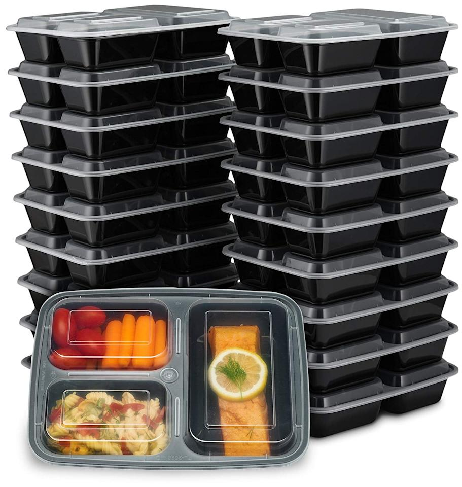 "<p>With these <a href=""https://www.popsugar.com/buy/EZ-Prepa-20-Pack-32oz-3-Compartment-Meal-Prep-Containers-Lids-407727?p_name=EZ%20Prepa%2020%20Pack%2032oz%203%20Compartment%20Meal%20Prep%20Containers%20with%20Lids&retailer=amazon.com&pid=407727&price=18&evar1=fit%3Aus&evar9=45709266&evar98=https%3A%2F%2Fwww.popsugar.com%2Ffitness%2Fphoto-gallery%2F45709266%2Fimage%2F45709289%2FHeavy-Duty-Prep&list1=shopping%2Camazon%2Chealthy%20lunches%2Chealthy%20living%20tips%2Cmeal%20plans%2Cmeal%20prep&prop13=api&pdata=1"" rel=""nofollow"" data-shoppable-link=""1"" target=""_blank"" class=""ga-track"" data-ga-category=""Related"" data-ga-label=""https://www.amazon.com/Prepa-Pack-32oz-Compartment-Containers/dp/B01MYGAHR8/ref=sr_1_6?s=kitchen&amp;ie=UTF8&amp;qid=1548355274&amp;sr=1-6&amp;keywords=meal+prep+containers"" data-ga-action=""In-Line Links"">EZ Prepa 20 Pack 32oz 3 Compartment Meal Prep Containers with Lids</a> ($18), you could prep a family of four's lunches for a week! So, if you're prepping for one or two, you'll never run out of clean Tupperware.</p>"