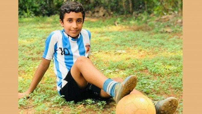 Mantul Gan, Bocah Ajaib Asal India Sukses Tiru Tendangan Bebas Messi