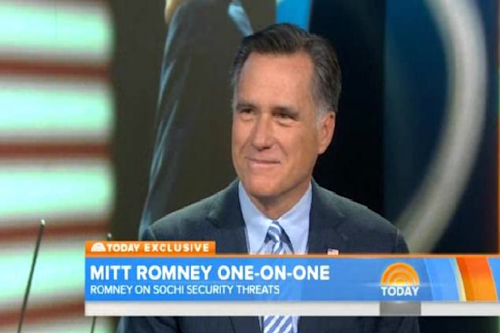 Mitt Romney Defends Olympics Security on 'Today': Former Salt Lake City Chief Says Sochi 'Will Be Safe'