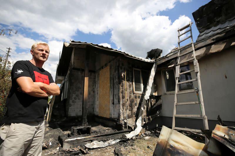 Ukrainian anti-graft group says razing of activist's house was assassination bid