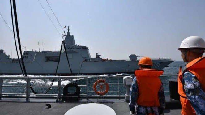 VIVA Militer: Kapal perusak siluman Type 055 Nanchang 101 Angkatan Laut China